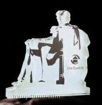 Acrylic Paperweight Up To 20 Square Inches / Lincoln Memorial