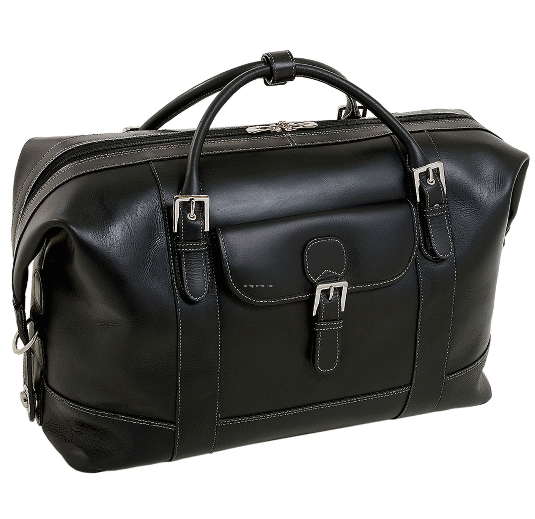 Amore Leather Duffel Bag - Black