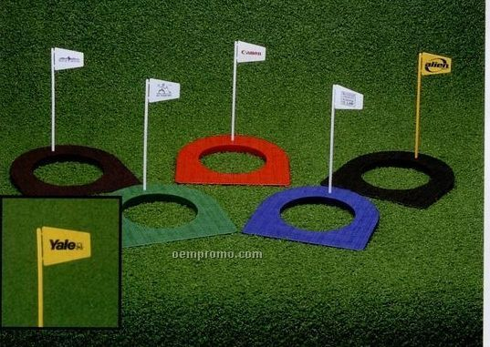 Golf Putting Cup & Flag With 1 Or 2 Color Imprint