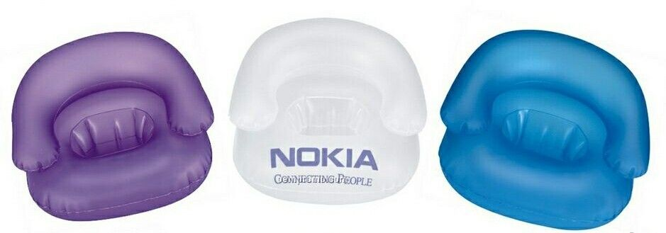 Inflatable Opaque Sofa Shape Cell Phone Stand