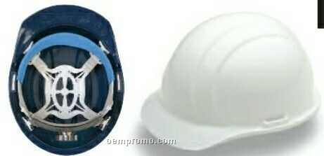 Liberty Cap Hard Hat With 4 Point Mega Ratchet Suspension - Dark Blue