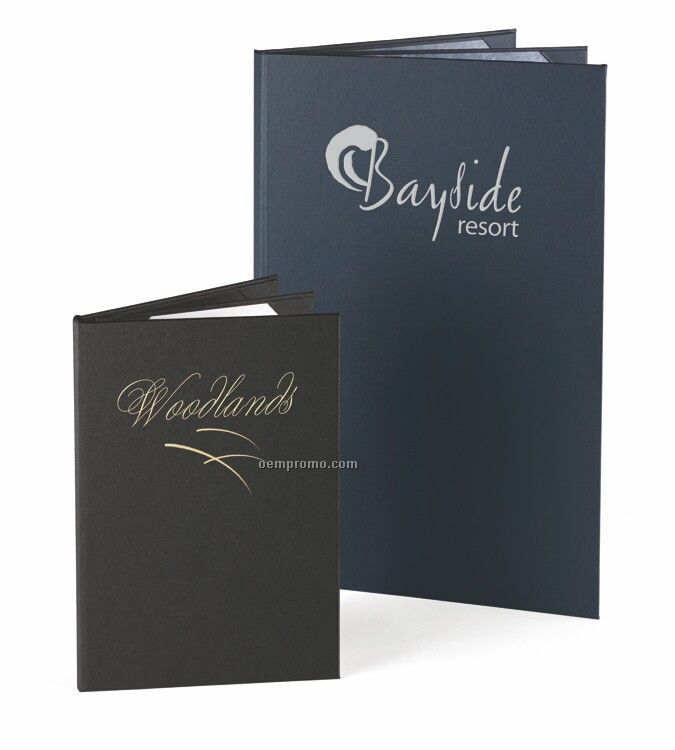"""Majestic Linen Menu Cover - Four View/Book Style (5 1/2""""X8 1/2"""")"""