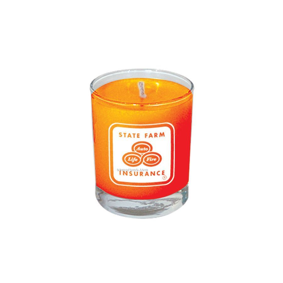 Mango and papaya votive glass soy candle china wholesale for Top selling candle fragrances