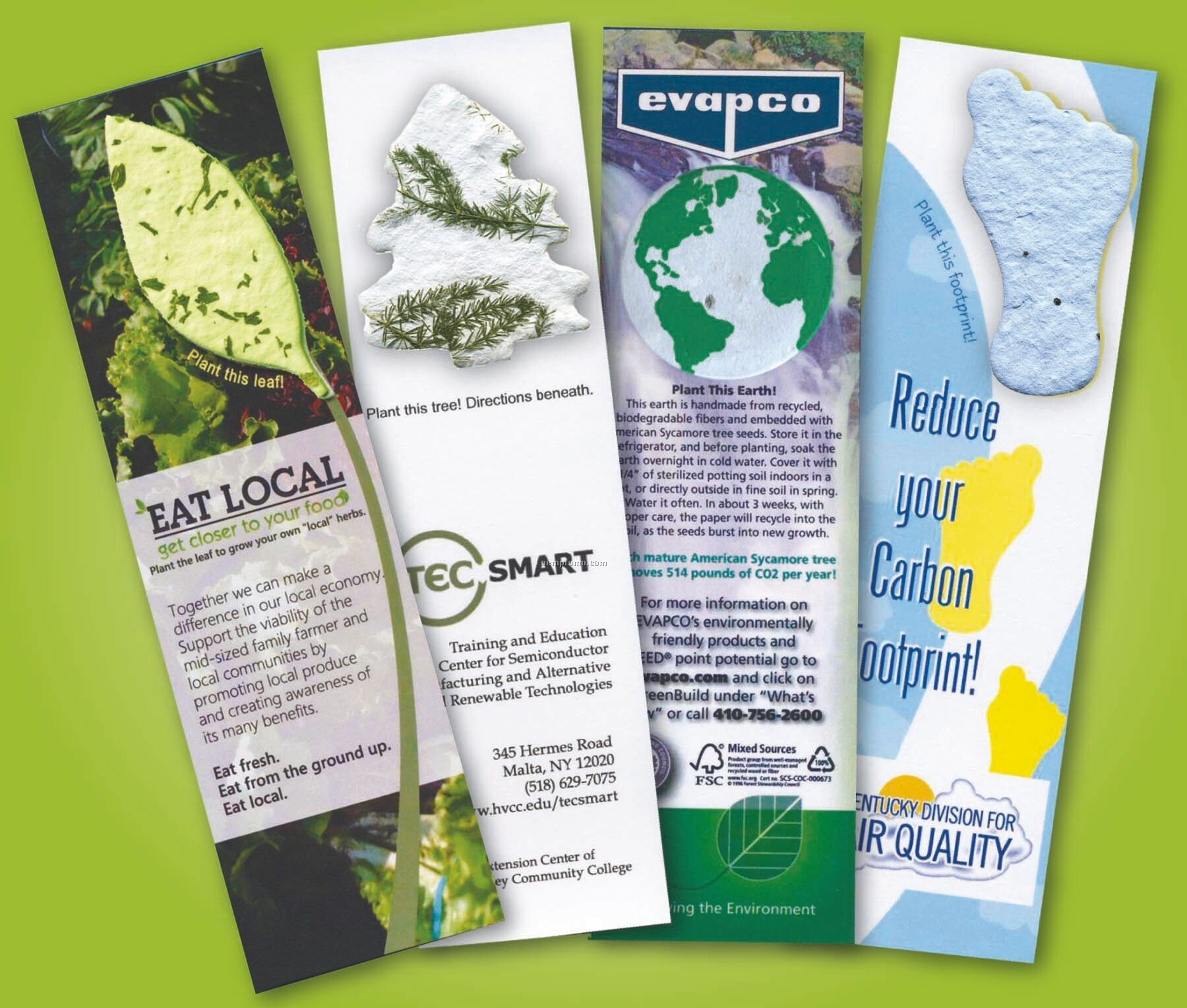 """Cover Stock Paper Bookmark With Handmade Mini Seed (2""""X7-1/2"""")"""