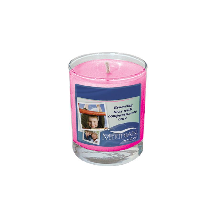 Fresh Cut Roses Votive Glass Soy Candle