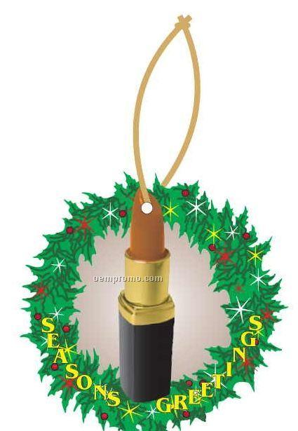 Lipstick Executive Wreath Ornament W/ Mirrored Back (3 Square Inch)