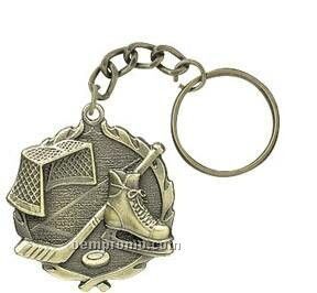 "Medal, ""Hockey"" - 1-1/4"" Key Chain"