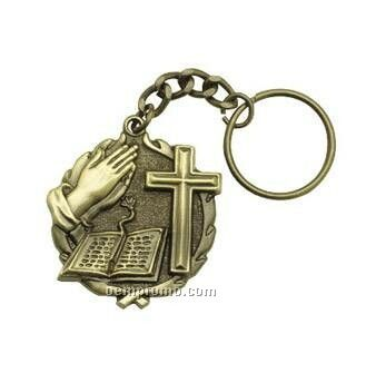 "Medal, ""Bible"" - 1-1/4"" Key Chain"