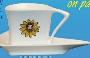 3 Oz. Triangle Cup & Saucer