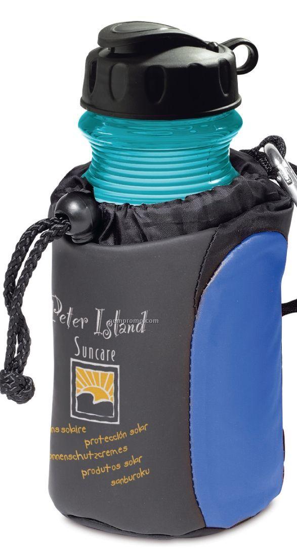 Carabiner Tote Beverage Insulator Set W/ Ecofresh Sport Bottle