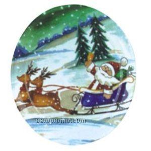 Fruit Plate - Santa Print