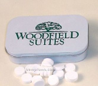 Hinged Tin Filled With White Gourmet Mints