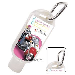 1.8 Oz. Hand Sanitizer Squeeze Bottle W/ Carabiner