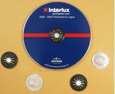 Adhesive Backed Plastic Rosetta Hub For CD / DVD