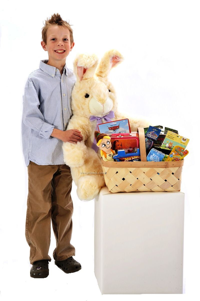 Baxter The Bunny Rabbit With Toy Filled Easter Basket