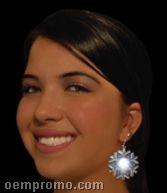 Blank Snowflakes Pierced Earrings