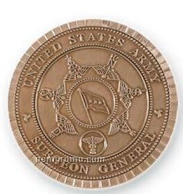 """Die Struck Brass Medallion (1-3/4"""")"""