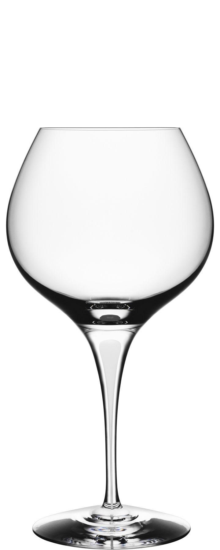 Intermezzo Crystal Satin Bouquet Wine Glass W/ White Drop