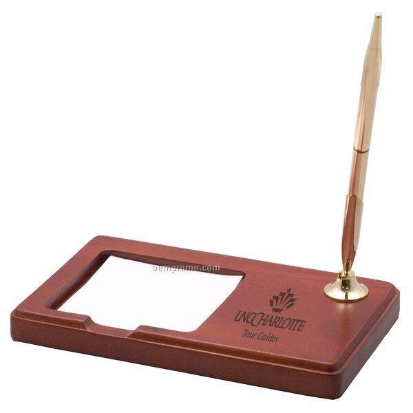 Rosewood Desk Pen Amp Memo Pad Holder China Wholesale