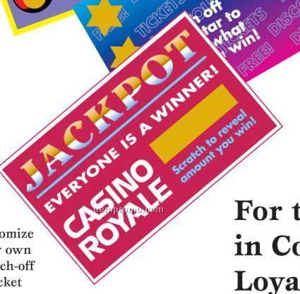 """2-1/2""""X4"""" Custom Scratch-off Ticket W/ Prize Message"""