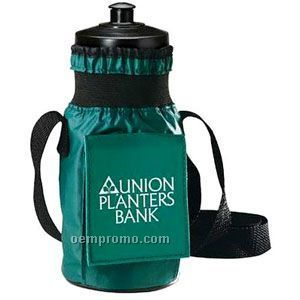 Insulated Bottle Carrier Beverage Insulator W/ Shoulder Strap & Pouch