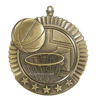 "Medal, ""Basketball"" Star - 2-3/4"" Dia"