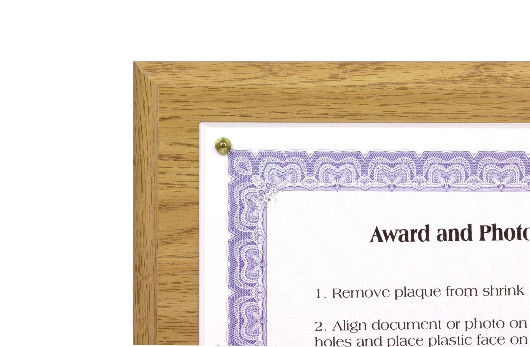 Oak Composite Traditional Certificate Plaqueschina Wholesale Oak