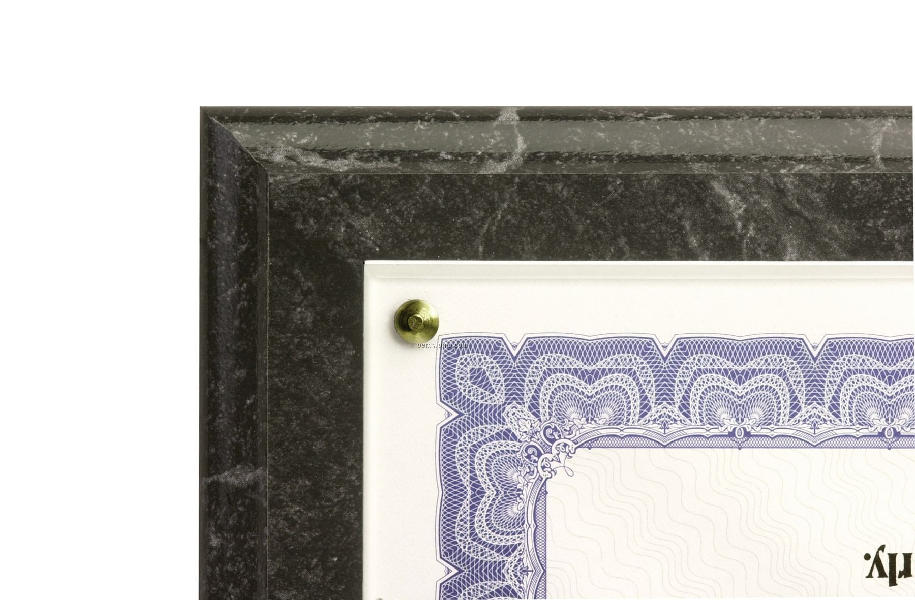 Black Marble Traditional Certificate Plaques