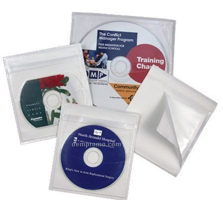 CD Adhesive Vinyl Sleeve For Mini Disc ( 80 Mm)
