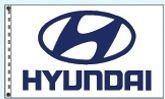 Checkers Double Face Dealer Logo Spacewalker Flag (Hyundai)