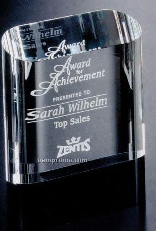 "Sable Gallery Crystal Cosmo Oval Award (6"")"