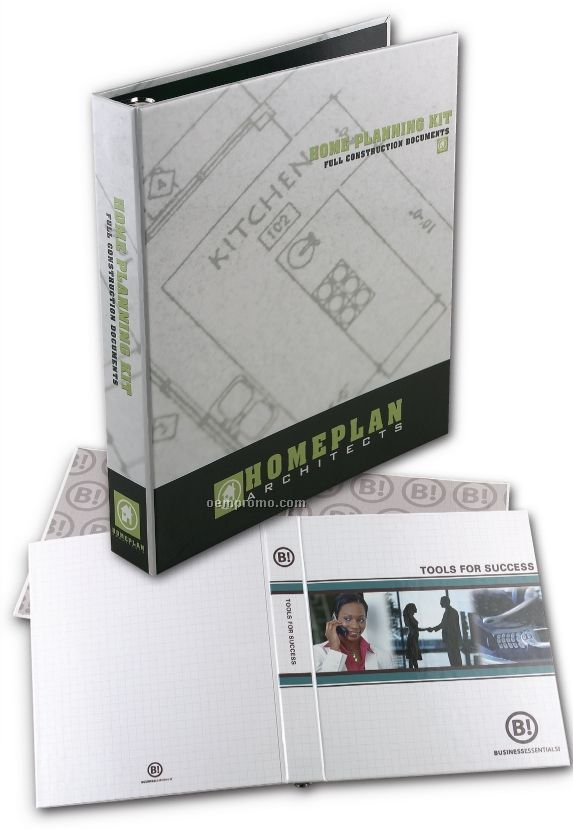 """Small 4 Color Process Turned Edge Binder (1 1/2"""" Capacity)"""