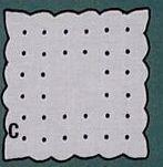 """Square Coaster Napkin W/ Scallop & Dots - 6""""X6"""""""
