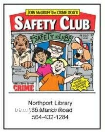 Mc Gruff The Crime Dog's Safety Club Activity Coloring Book
