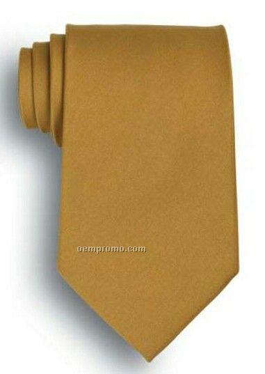 Wolfmark Solid Vegas Gold Silk Tie