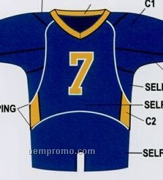 Custom Football Jersey W/ Contrast Neck, Side Dazzle & Piping
