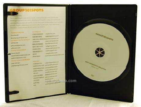 DVD Replication Retail In Black Slim Amaray Case, 4-panel 4/1 Insert(DVD 5)