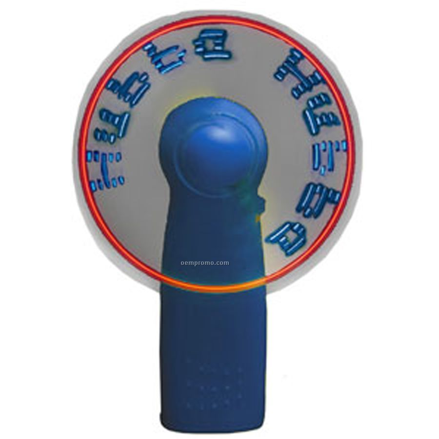 Blue Light Up Fan With 7 Blue LED Message