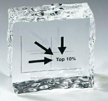 Lucite Ice Block Stock Shape Embedment / Award