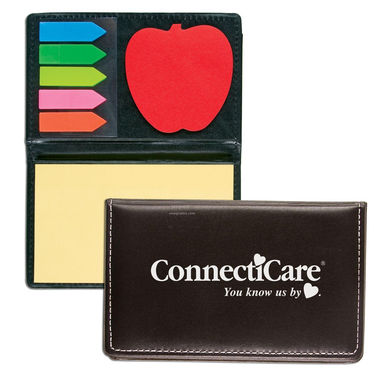 Sticky Note Case W/ Die Cut Apple Shape Pad