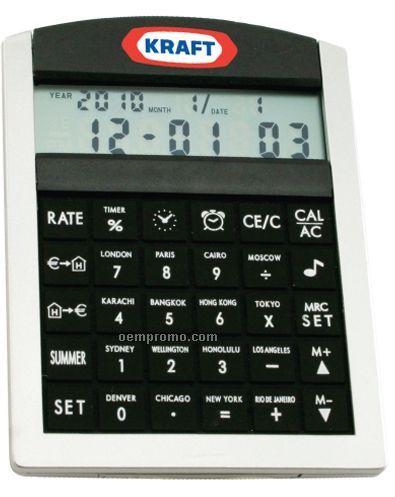 World Time Alarm Clock/ Calculator