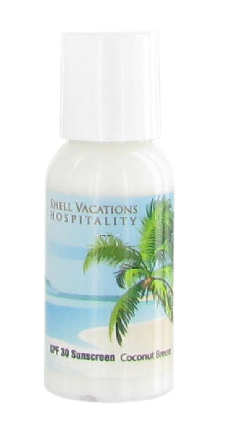 1 Oz. Spf 30 Sunscreen Lotion In Round Bottle - Next Day Service