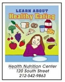 Learn About Healthy Eating Activity Coloring Book