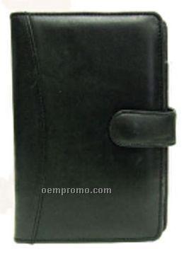medium black bi fold folder journal w flap button china wholesale