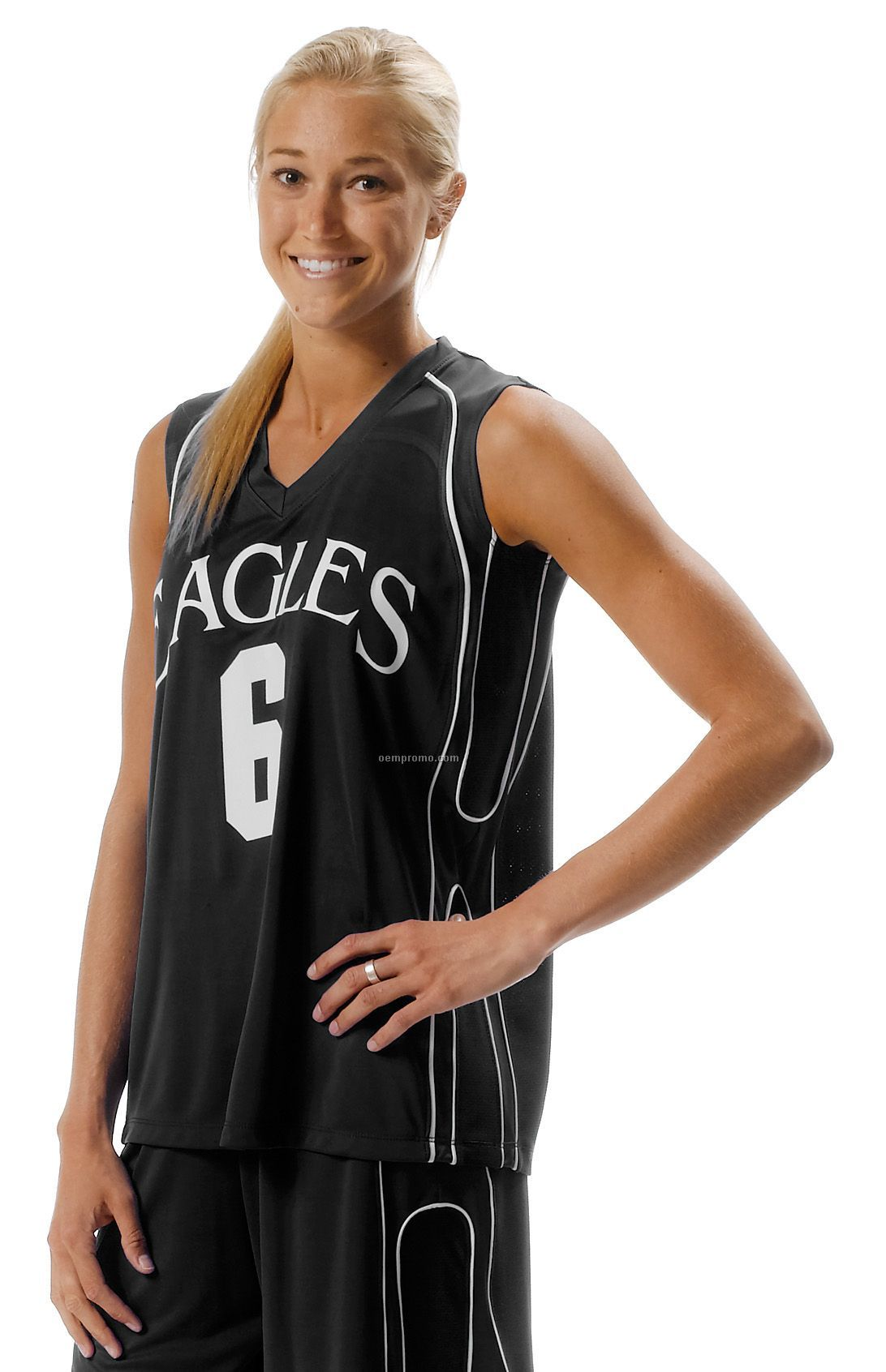 Nw2322 Women's Moisture Management Game Muscle Basketball Jersey