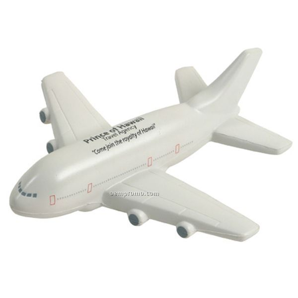 Passenger Airplane Squeeze Toy