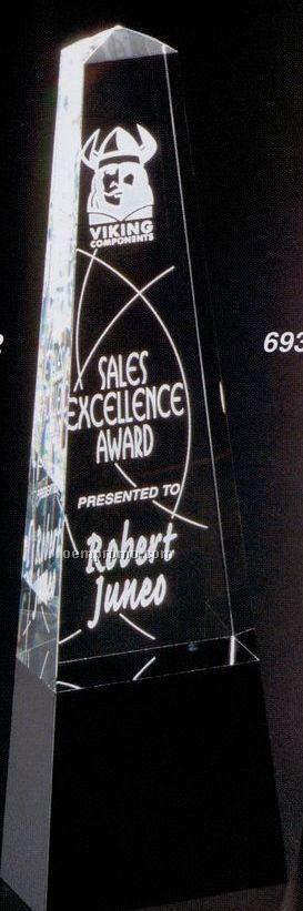 "Sable Gallery Crystal Cosmo Obelisk Award (11"")"