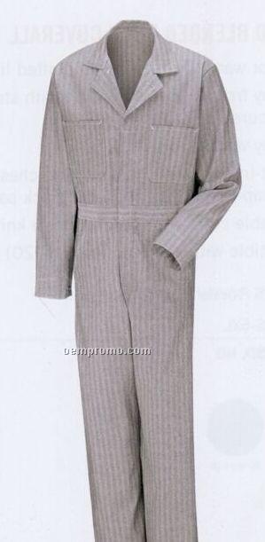 Button Front Cotton Coverall (Herringbone)
