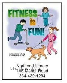 Fitness Is Fun Activity Coloring Book
