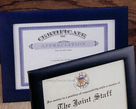 """Padded Certificate/ Photo Frame (8 1/2""""X11"""" With 8 1/4""""X10"""" Window)"""